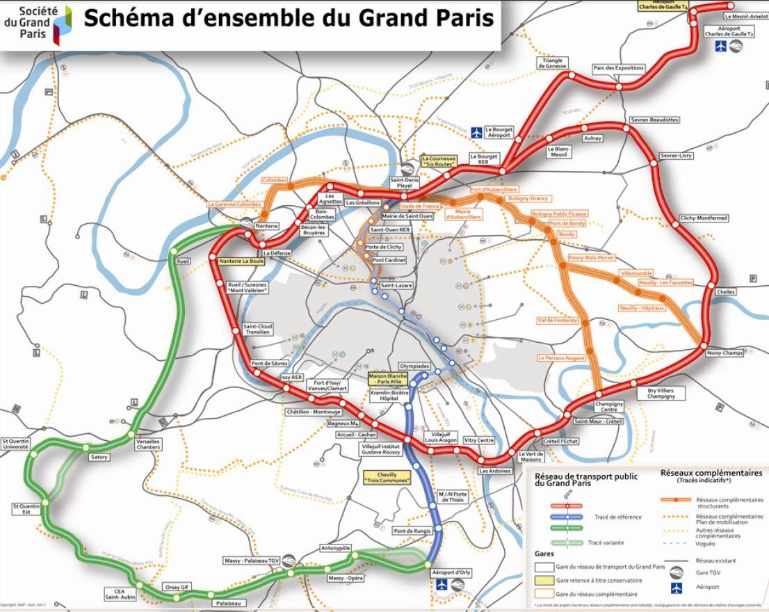 Grand paris express l arc est proche est lanc 94 citoyens - Plan du peripherique parisien les portes ...