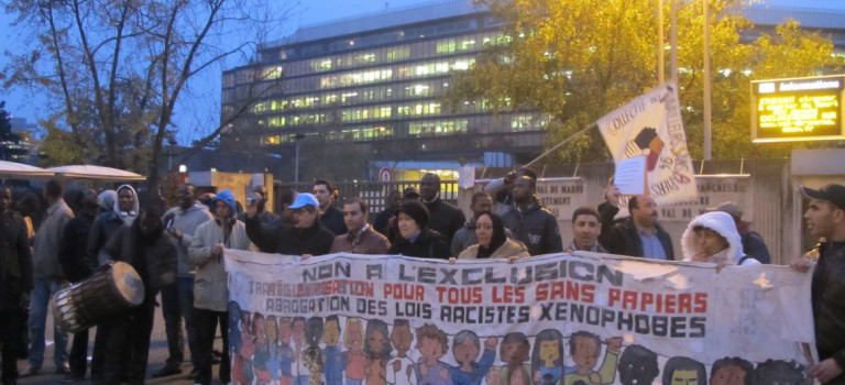 Val-de-Marne – droit des étrangers : manifestation contre le tout Internet devant la préfecture