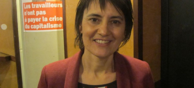 Nathalie Arthaud en meeting à Maisons-Alfort