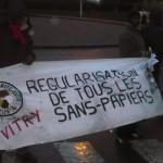 Manifestation sans papiers