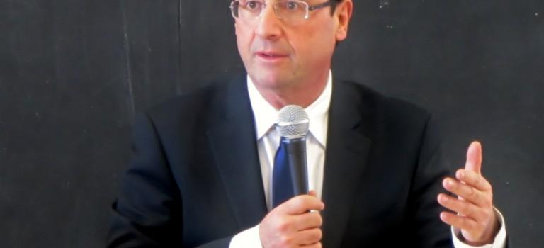 François Hollande à L'Haÿ-les-Roses ce mardi
