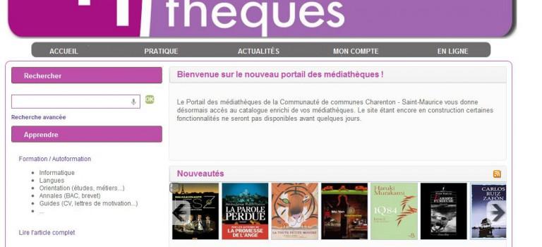 Quatre médiathèques: un site Internet