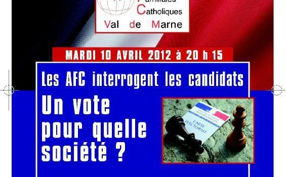 Débat catholique à Saint-Maur : un vote pour quelle société ?