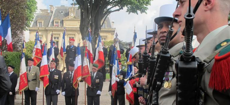 Cérémonie de remise de fanion à Villeneuve-Saint-Georges