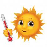 soleil thermométre heureux