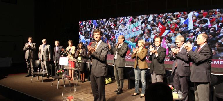 Arnaud Montebourg vient soutenir les candidats de gauche
