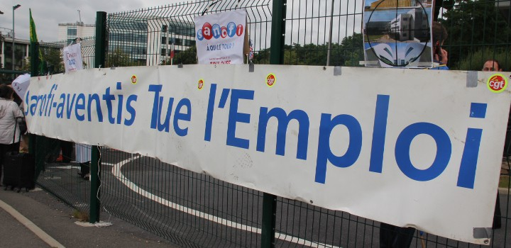 Les Sanofi ont manifesté à Toulouse et sur les quais de Seine