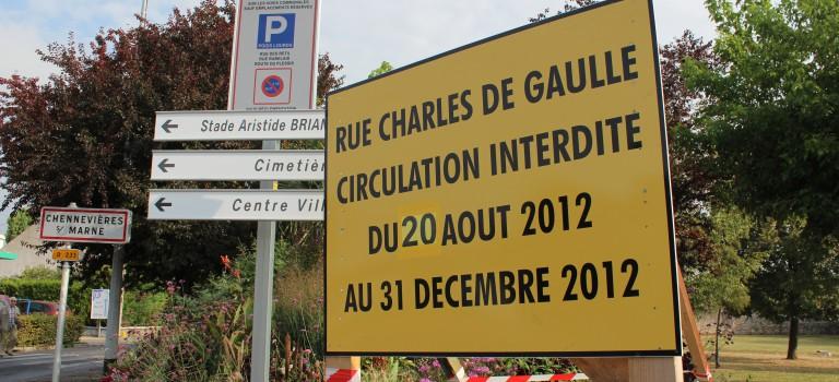 Importants travaux rue du Général de Gaulle