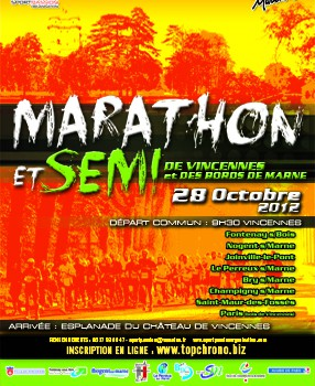 Marathon et semi de Vincennes et des bords de Marne