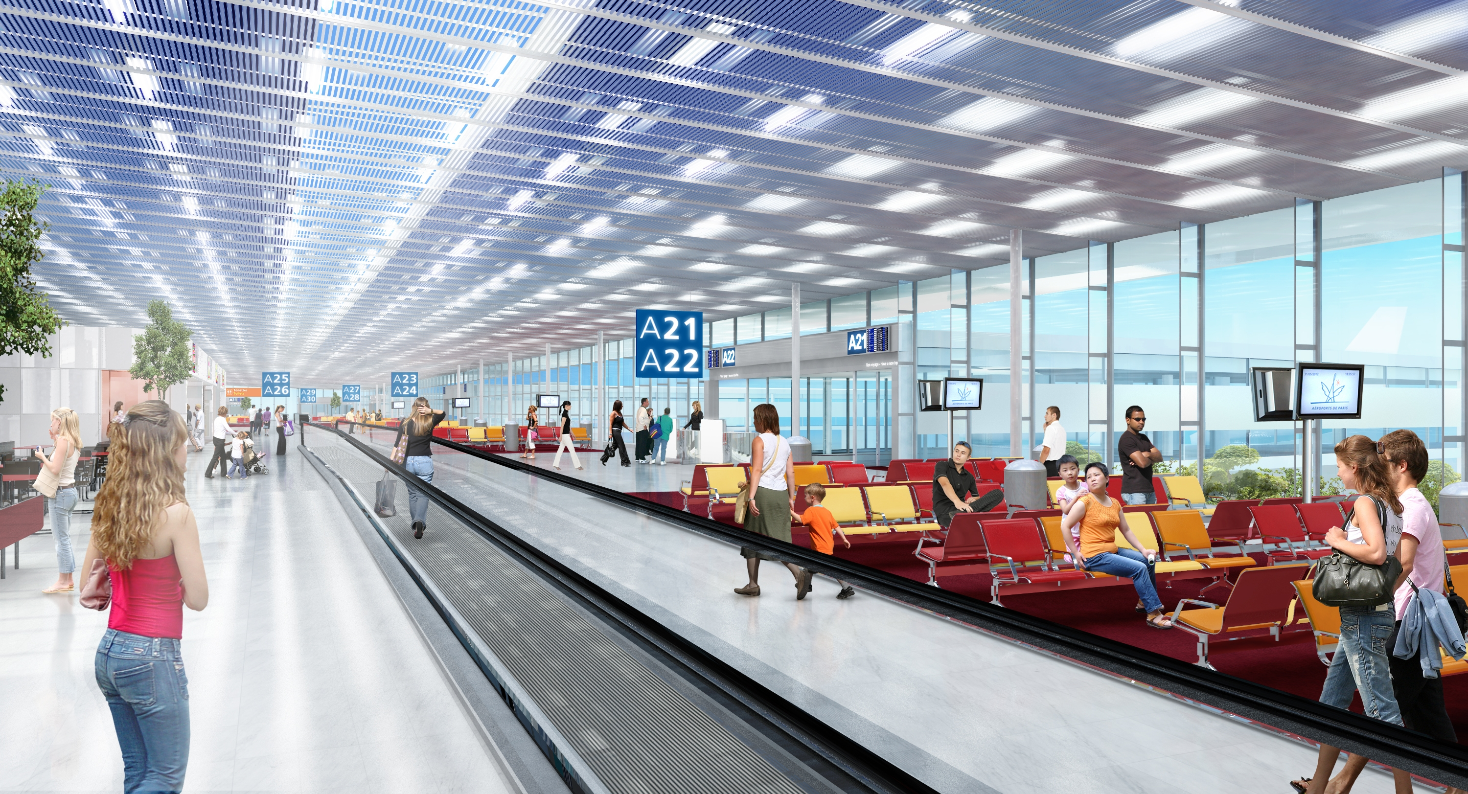 Future salle embarquement international Aeroport Orly 1
