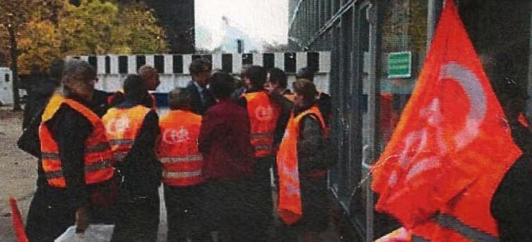 Les salariés d'Atalian protestent contre leur fin de contrat