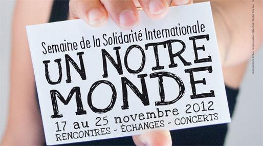 Semaine de la solidarité : 11e édition d'un Notre Monde