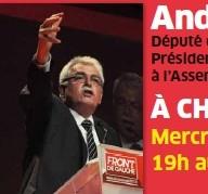 André Chassaigne vient défendre les positions du Front de Gauche à Choisy