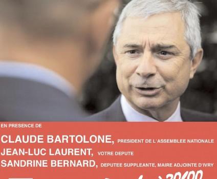 Claude Bartolone vient expliquer le changement aux Val de Marnais