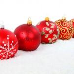 Noel : Boules de Noël rouges