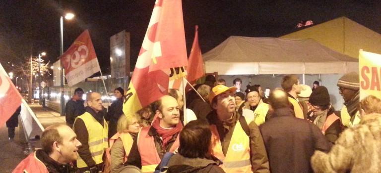 Première pierre du Campus Sanofi : les syndicats accueillent Chris Viebacher