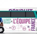 Car officiel Equipe feminine handball ratp
