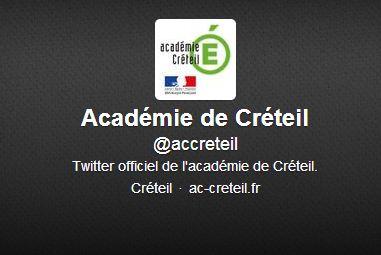 L'Académie de Créteil sur Twitter!