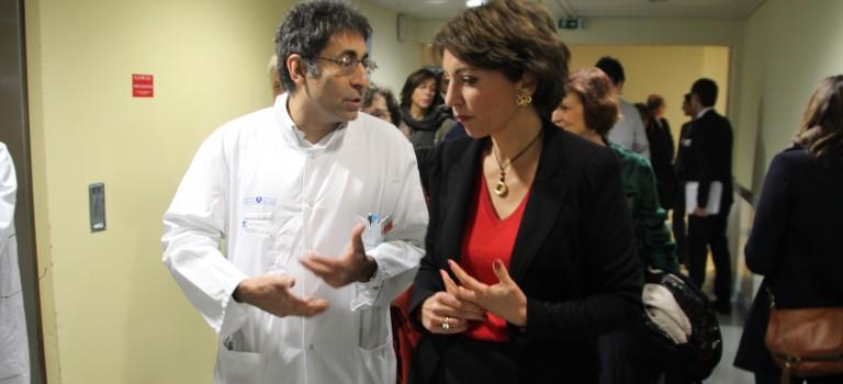 Marisol Touraine à Henri Mondor pour la journée des maladies rares