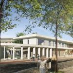 Futur College Lucie Aubrac cote gymnase