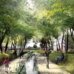 Ivry Confluence Parc en reseau Image Bruno Fortier architecte