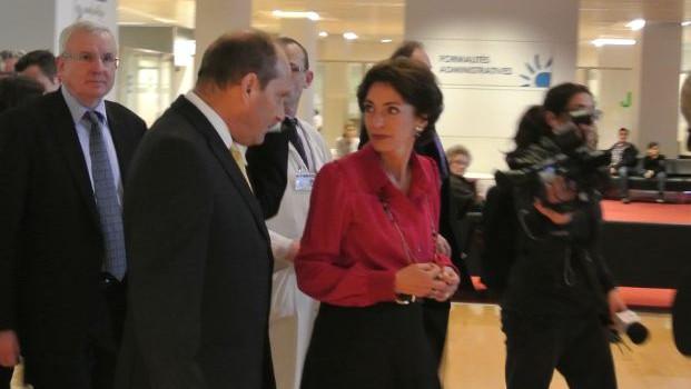 Marisol Touraine à l'Institut Gustave Roussy pour la Journée du cancer
