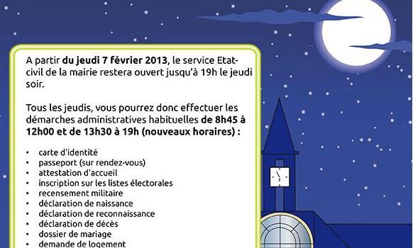 Nocturnes au service Etat civil de Saint Mandé