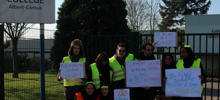 Collège Camus : les surveillants en grève hier
