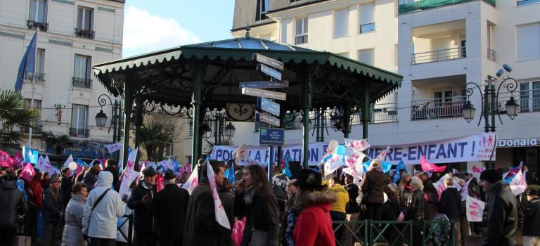 400 personnes ont manifesté contre le mariage gay à Nogent