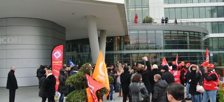 Les salariés de Ricoh en grève