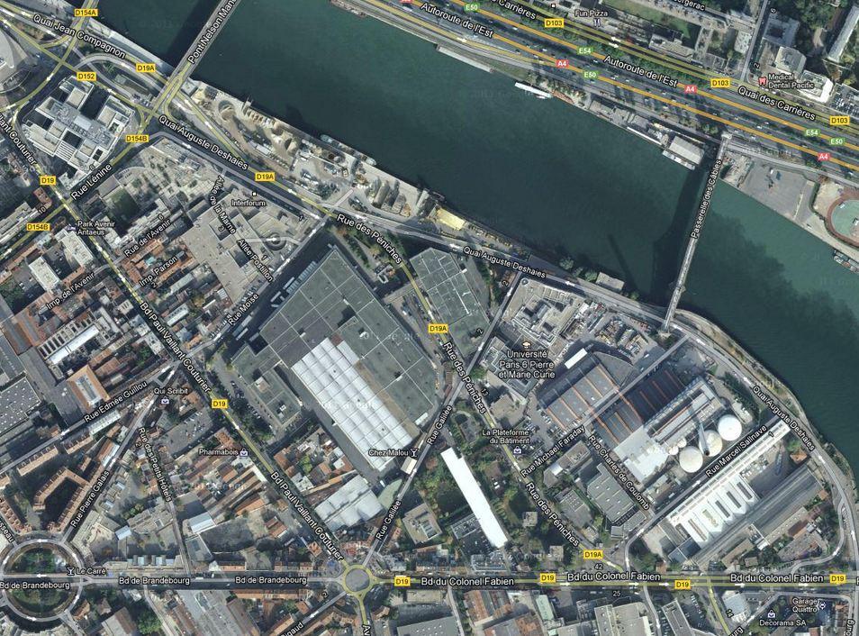 Ivry Confluences Google Maps
