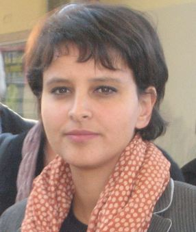 La ministre Najat Vallaud-Belkacem à Orly ce matin