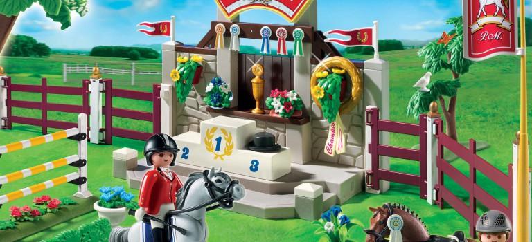 Course de chevaux Playmobil à Fresnes