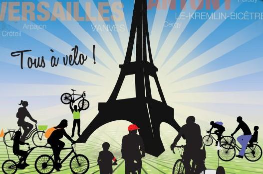 Tous en blanc pour la convergence à vélo dimanche!