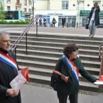 Sénateur Christian Favier Laurence Cohen Gare de Villiers sur Marne