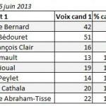 Resultats Primaires interne PS Val de Marne 6 juin 2013