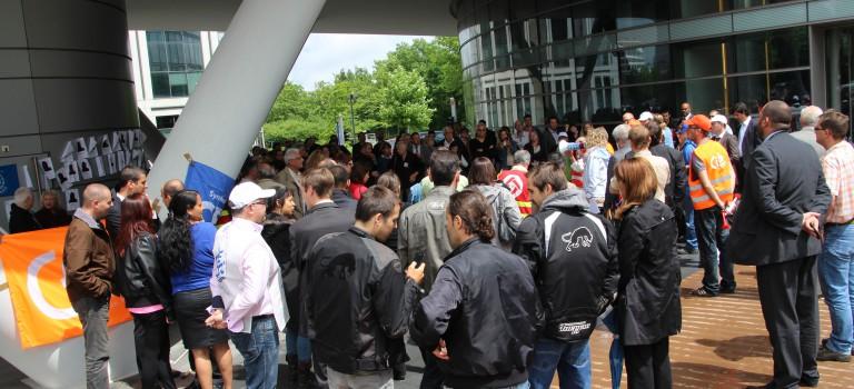 La manifestation Ricoh mobilise les politiques
