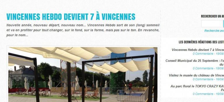 Vincennes Hebdo se relance et devient 7 à Vincennes