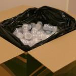 Carton de nourettes complet prêt à partir au recyclage