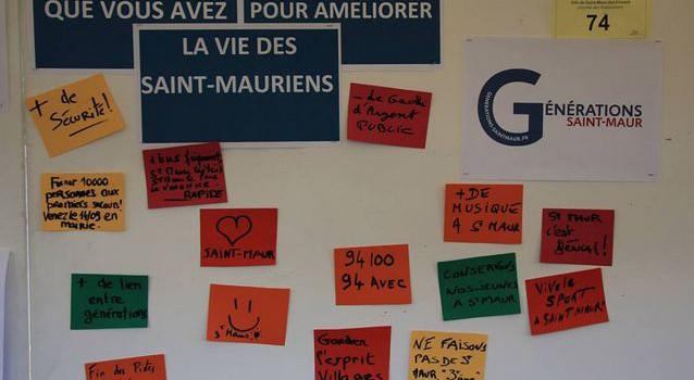 Générations Saint-Maur présente ses dix propositions au public et candidats