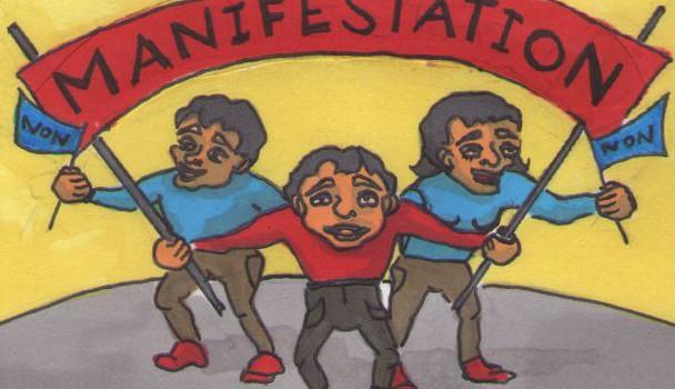 Les syndicats manifestent sous les fenêtres du PS Val de Marne