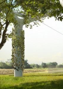 Pylone vegetalise Station Bois Matar Televal Esquisse Credit Conseil General Val de Marne