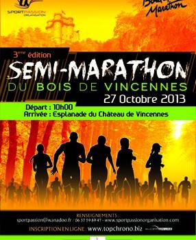 Semi-marathon du Bois de Vincennes, avec les pompiers!