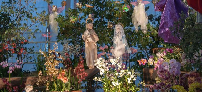 Crèche exotique et marché de Noël aux Orchidées Vacherot & Lecoufle