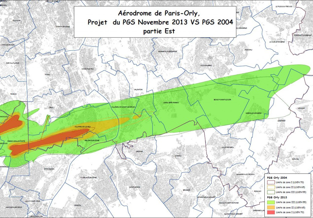Plan Gene sonore Orly Est projet Novembre 2013