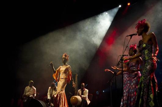 Rokia Traoré en concert à Bonneuil
