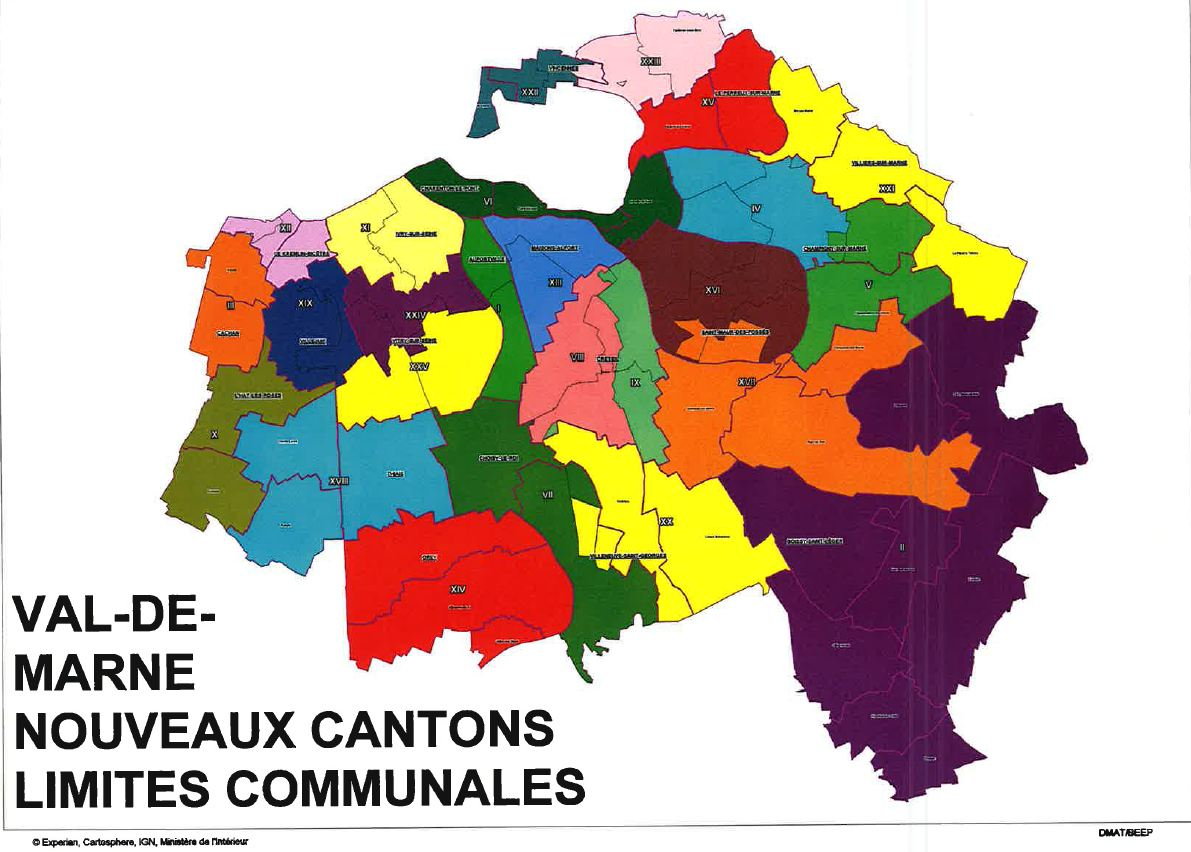 carte departement val de marne
