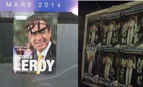 Municipales à Saint-Maur : affiches et permanence de campagne taguées