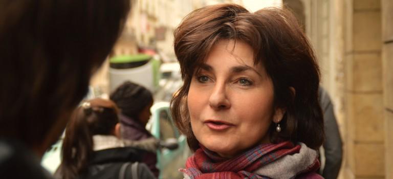 A Créteil, l'UDI Sylvie Smaniotto en discussion avec l'UMP Thierry Hebbrecht