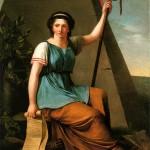 Jeanne-Louise, dite Nanine, Vallain ; La Liberté ; Huile sur toile 1,28x0,97